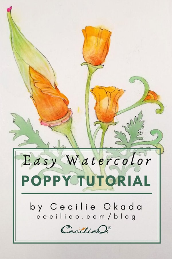Easy Watercolor Tutorial: Vibrant Poppy Flowers