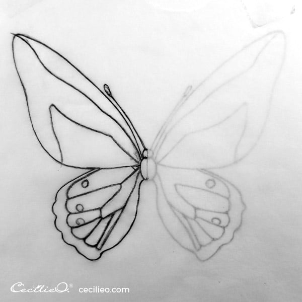 Transfer of both butterfly wings