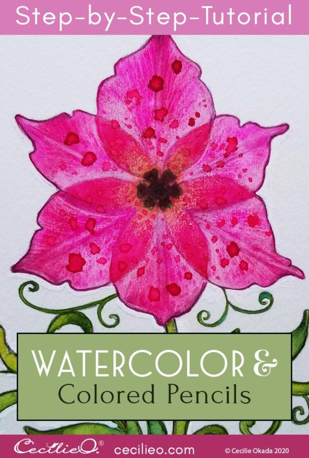 """How to Watercolor Transparent Flowers: """"Flower of Life"""""""