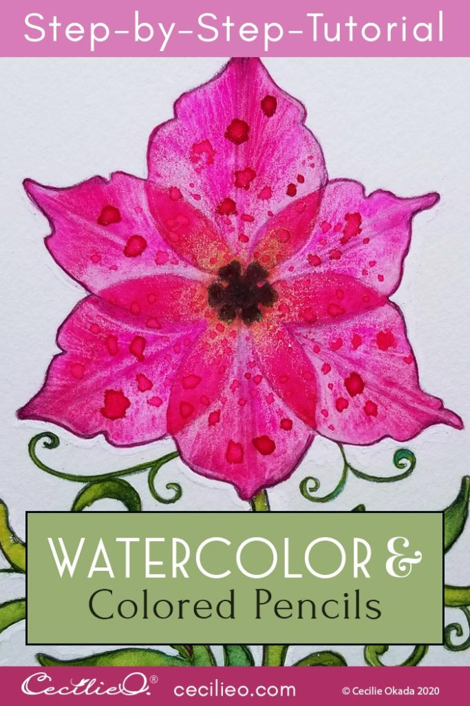 "How to Watercolor Transparent Flowers: ""Flower of Life"""