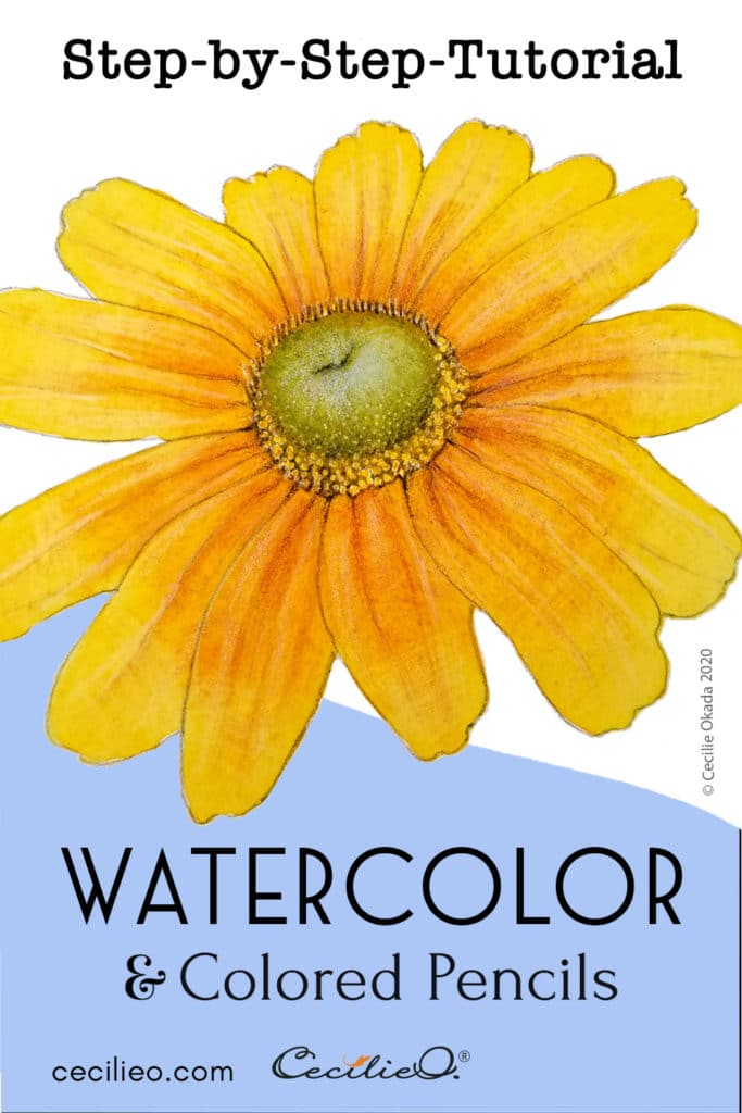 How to Watercolor a Realistic, Radiant Prairie Sunflower