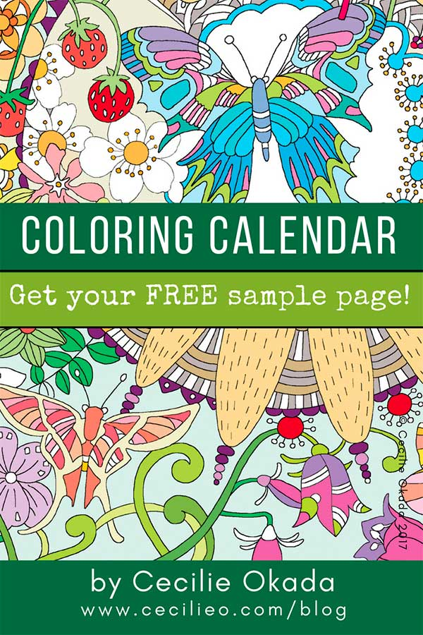 Coloring Calendar 2019, germany