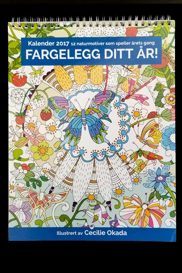 Coloring Calendar 2017, Norway