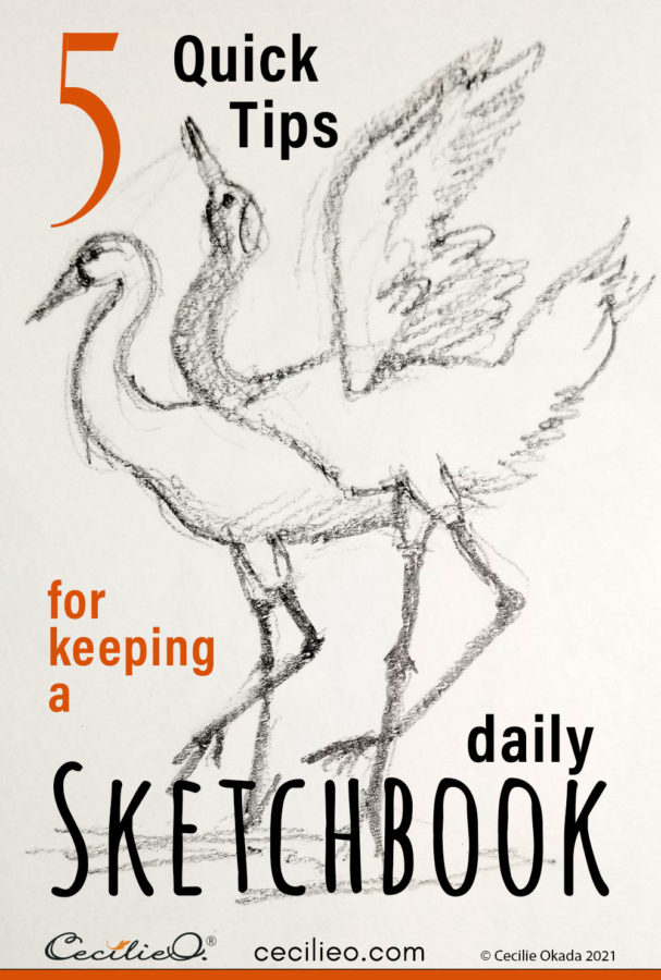 Inspiration for keeping a daily sketchbook to improve your artistic skills. Frequent sketching is key to becoming a good artist.