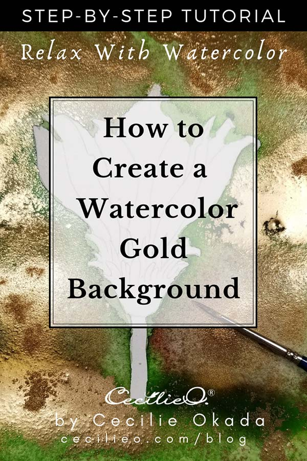 How to Make A Gold Background With watercolor