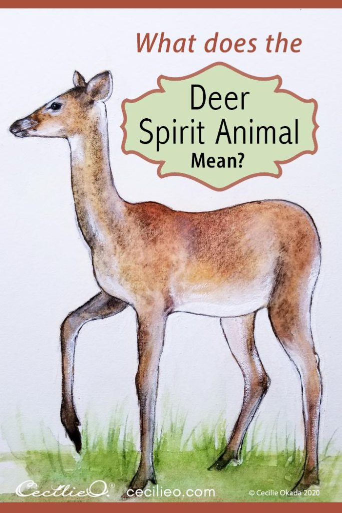 Watercolor for Mindfulness: Deer Spirit Animal