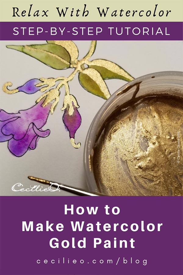 How To Make Gold Watercolor In Four Easy Steps