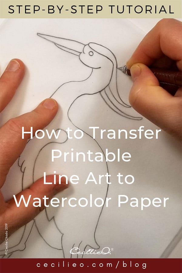 How To Trace Onto Watercolor Paper