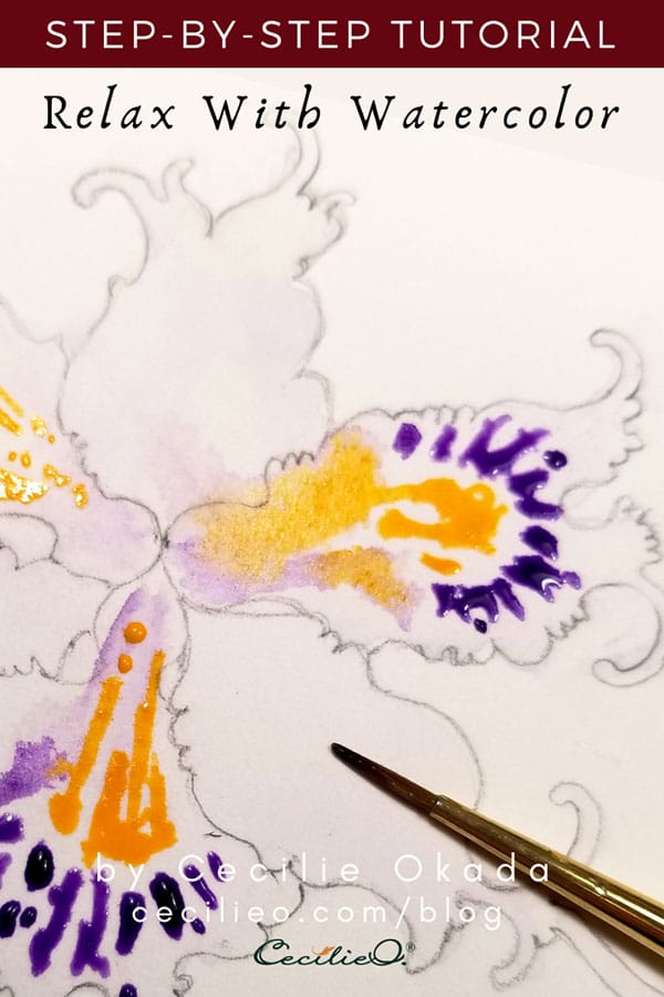 Watercolor Tutorial for Beginners: Iris Flower