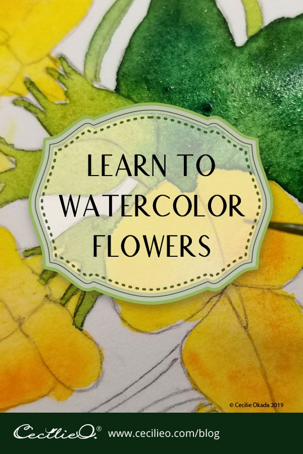 How to Watercolor Beautiful, Simple Flowers