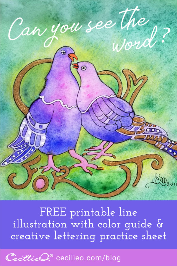 How to Watercolor Love Birds