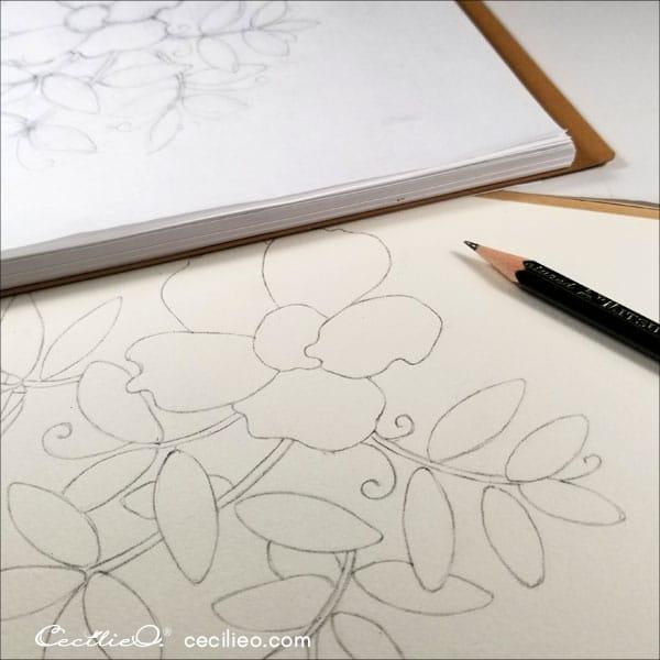 Sketching the wild rose