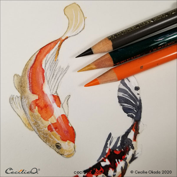 More details and volume with colored pencils 1.