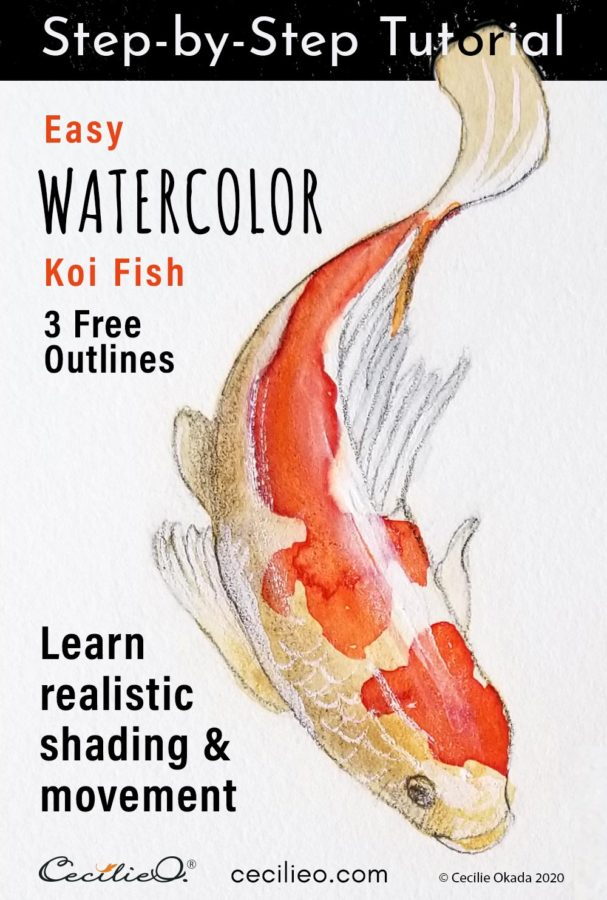 Koi Fish Watercolor Tutorial: How to Paint Vibrant Movement