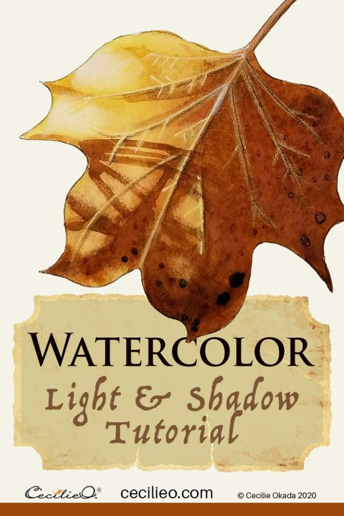 How to Watercolor Light and Shadow on a Magnificent Leaf