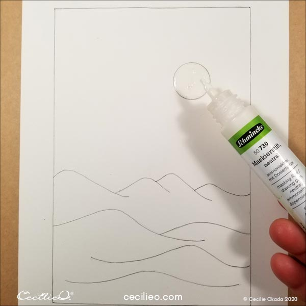 Covering the moon with masking fluid.