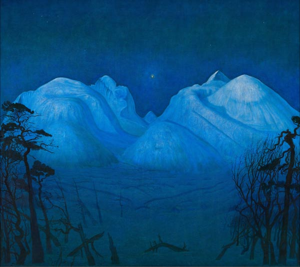 """Winter Night in the Mountains"" by Harald Solberg"