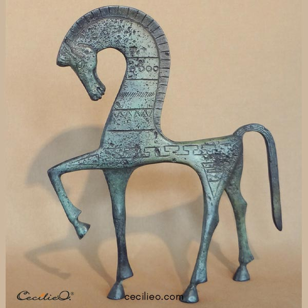 Modern design based on an ancient Minoan horse.