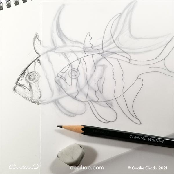 Drawing of fish.