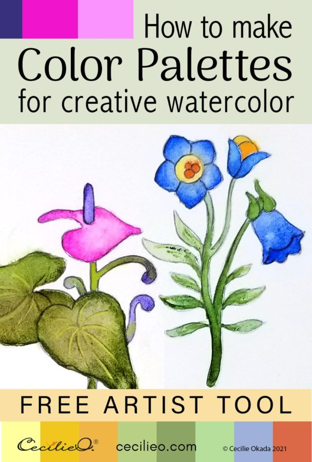 Use a simple, free tool to create color pallets from images. Paint your creative flower drawing with beautiful watercolors.