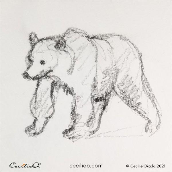 Bear sketch.
