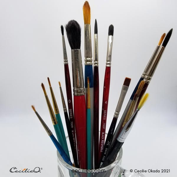 My old brush collection.